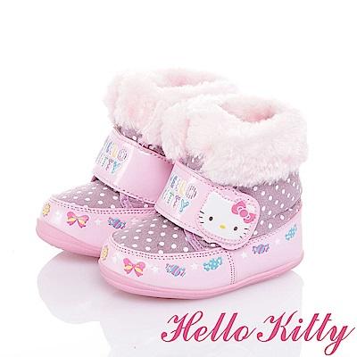 HelloKitty 保暖抗菌防臭雪靴童鞋-紫