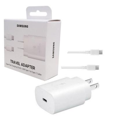 Samsung 原廠25W快充組(旅充頭+Type C 傳輸線) EP-TA800【白】【盒裝】