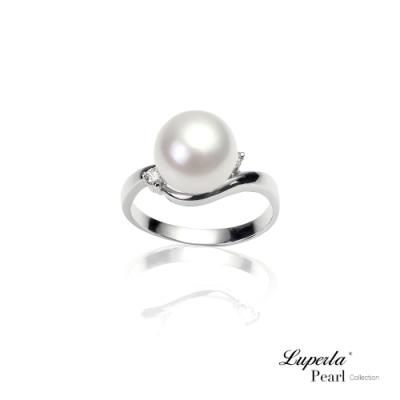 大東山珠寶 真鑽天然淡水珍珠9K白金戒指 永恆