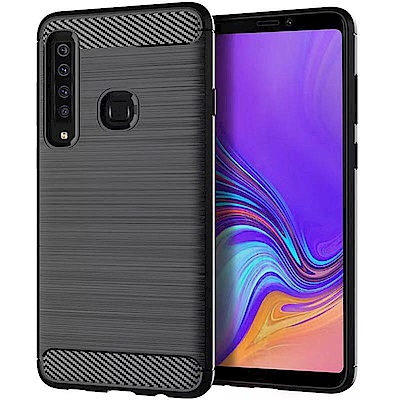 IN7 拉絲紋系列 Samsung A9 2018 6.3吋碳纖維硅膠保護殼