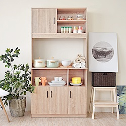 《HOPMA》DIY巧收摩登高廚房收納櫃-寬91 x深40.3 x高180cm