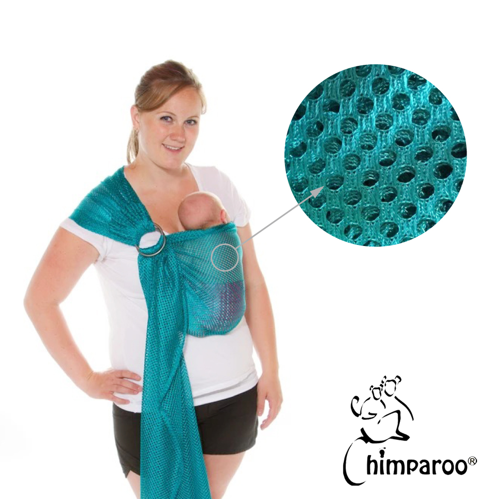 加拿大 Chimparoo Ring Sling Air-O 透氣雙環親密揹巾-湖水綠