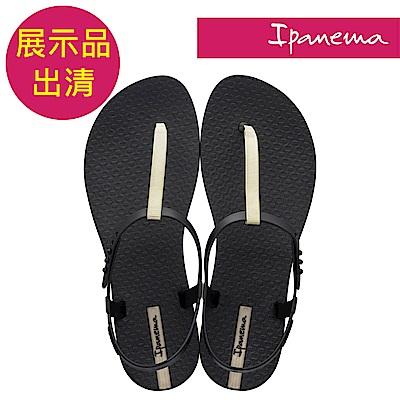 IPANEMA 女 經典雅緻 T型涼鞋-黑金