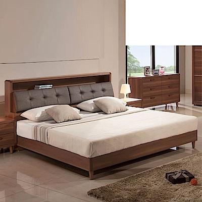 D&T德泰傢俱 愛維斯北歐生活<b>5</b>尺雙人床(床箱型)-152x188x102cm
