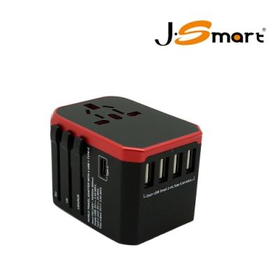 J-Smart 國際旅遊多國插座轉換頭 (贈送收納袋)