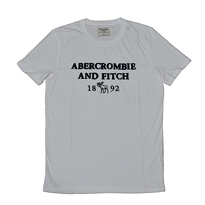 AF a&f Abercrombie & Fitch 短袖 T恤  白色 1203