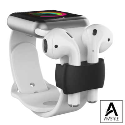 AHAStyle AirPods 耳機錶帶防丟收納套 黑色