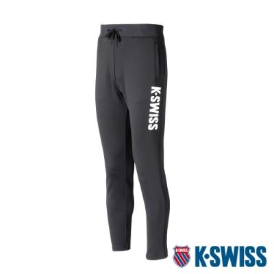 K-SWISS KS Logo Flat Pants運動長褲-男-黑