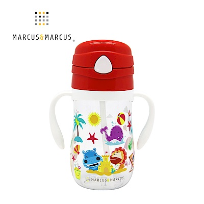 【MARCUS&MARCUS】動物樂園Tritan吸管學習杯-獅子