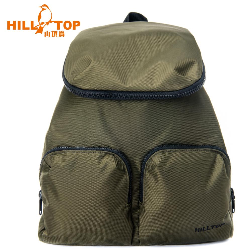 【hilltop山頂鳥】15L多功能背包T28X10橄欖綠