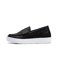 【AIRKOREA韓國空運】經典不敗質感皮革材質樂福鞋休閒鞋-黑