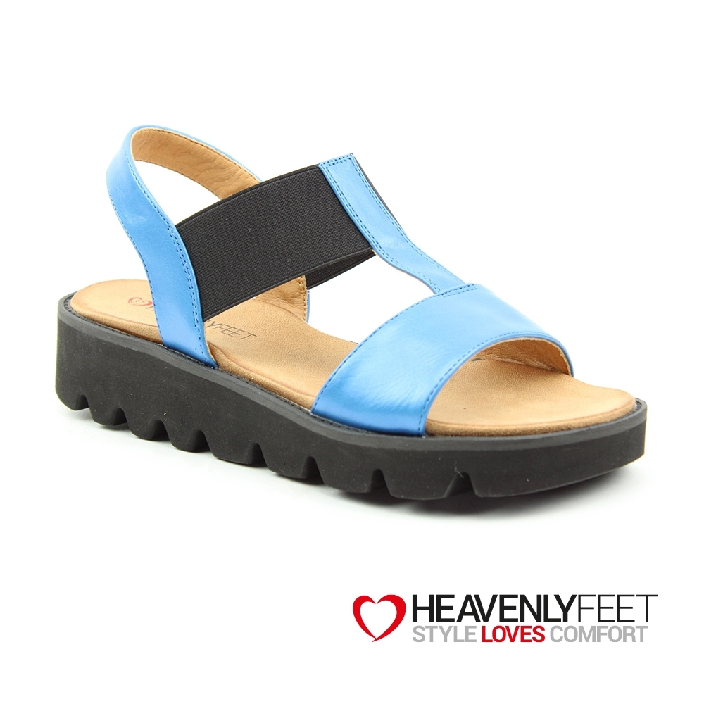 【HEAVENLY FEET】英國舒適品牌素色工字鬆緊帶休閒涼鞋-RITZ