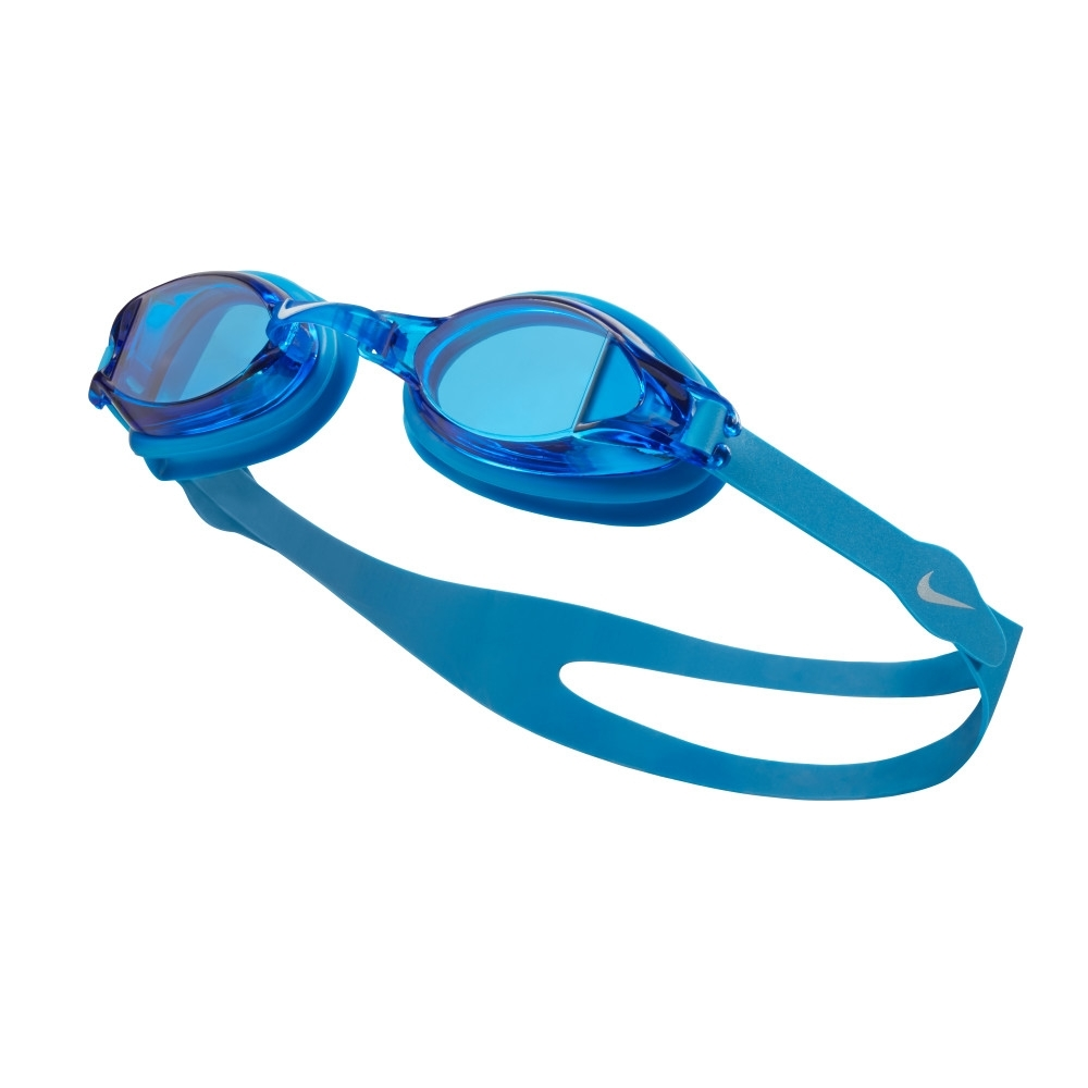 NIKE 成人 泳鏡 訓練型 CHROME 藍 N79151-458 (男女泳鏡)
