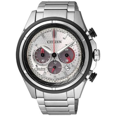 CITIZEN 星辰GENTS 鈦金屬光動能三眼計時腕錶(CA4241-55A)