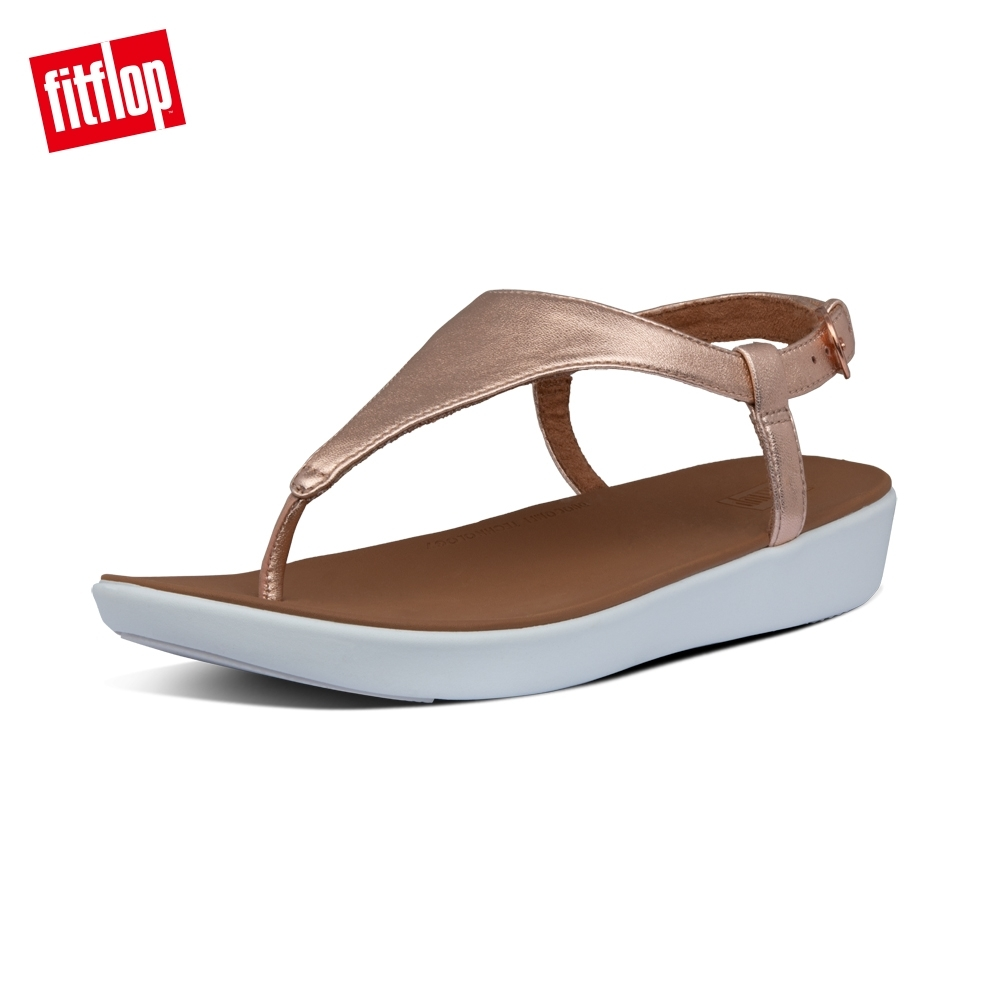 FitFlop LAINEY LEATHER BACK-STRAP SANDALS後帶涼鞋-女(玫瑰金)