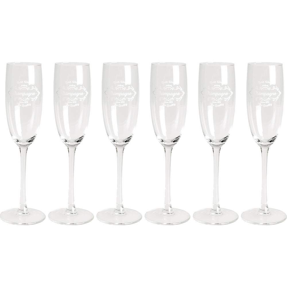 《EXCELSA》文飾香檳杯6入(190ml)