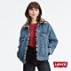 Levis 女款 雙面穿牛仔外套 復古極寬鬆版型 豹紋內裏 鋪棉袖子 product thumbnail 1