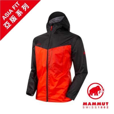 【Mammut 長毛象】Kento Light HS Hooded Jacket AF Men 超輕量防水風衣 辛辣紅/黑 男款 #1010-27740