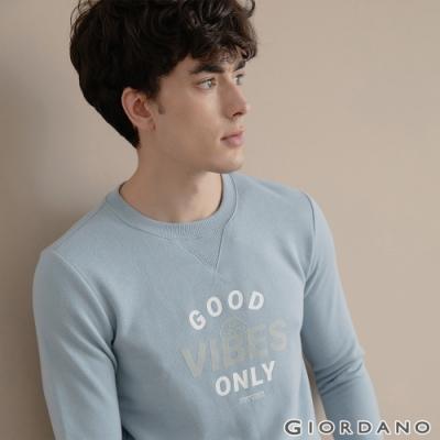 GIORDANO  男裝CHECKS大學T恤 - 42 藍