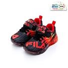 FILA KIDS 中童PVC電燈運動鞋-黑紅 2-J825T-022