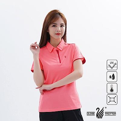 【遊遍天下】女款吸濕排汗抗UV機能POLO衫GS1033玫紅紅