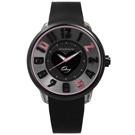 Tendence 天勢表 甜蜜幻想立體刻度520矽膠手錶-黑色/51mm