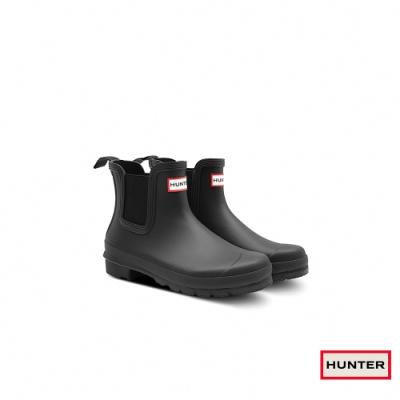 HUNTER - 女鞋 - Original新版切爾西霧面踝靴 - 黑