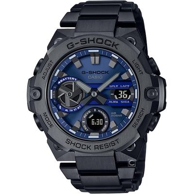 CASIO G-SHOCK 太陽能碳纖維核心防護藍牙功能錶(GST-B400BD-1A2)