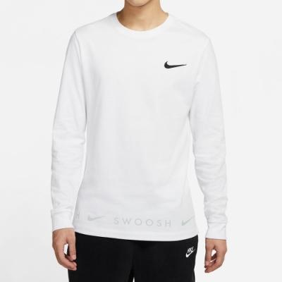 NIKE 上衣 長袖上衣 運動 慢跑 健身 男款 白 DA0336100 AS M NSW TEE LS SWOOSH