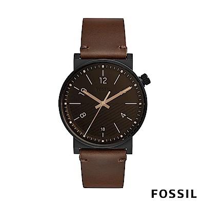 FOSSIL BARSTOW 棕色皮革男錶