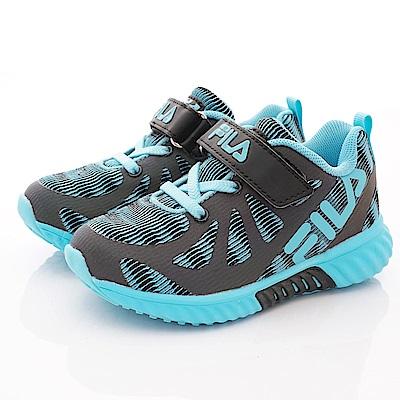FILA頂級童鞋 反光機能款 EI24S-303黑藍(中小童段)
