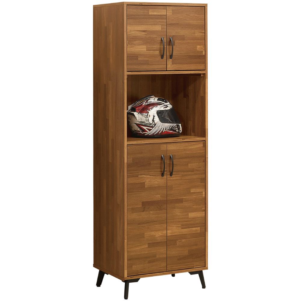 綠活居 福特時尚2尺四門高鞋櫃/收納櫃-60x40x182cm免組