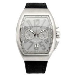 Manlike 曼莉萊克 碼表計時功能大酒桶限量腕錶 銀殻水泥面黑帶