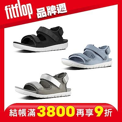 [品牌週限定] FitFlop NEOFLEX BACK-STRAP SANDALS 異材質拼接雙帶後帶涼鞋(共三色)