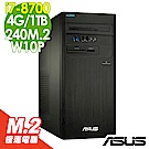 ASUS M840 i7-8700/4G/1TB+240M2/W10P