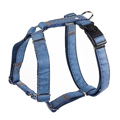 寵物工園ppark 牛仔布《H型胸背帶》L號