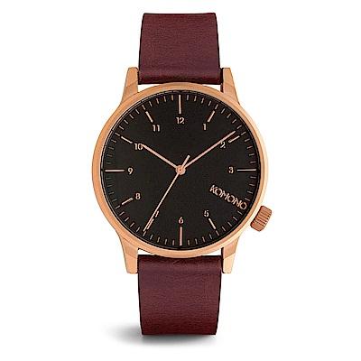 KOMONO Winston Regal 腕錶-勃根地/41mm