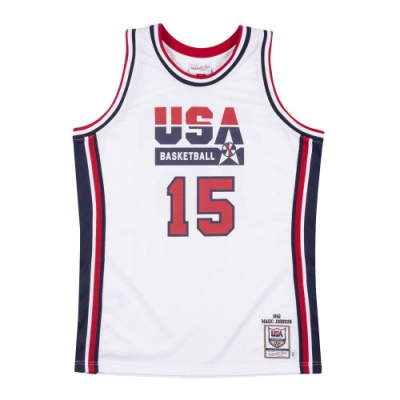 M&N Authentic球員版復古球衣 92 Dream Team #15 Magic Johnson