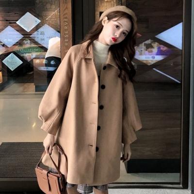 【韓國K.W.】素面韓版首爾中長款風衣大衣-1色