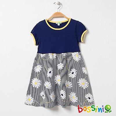 bossini女童-印花連身洋裝06海藍