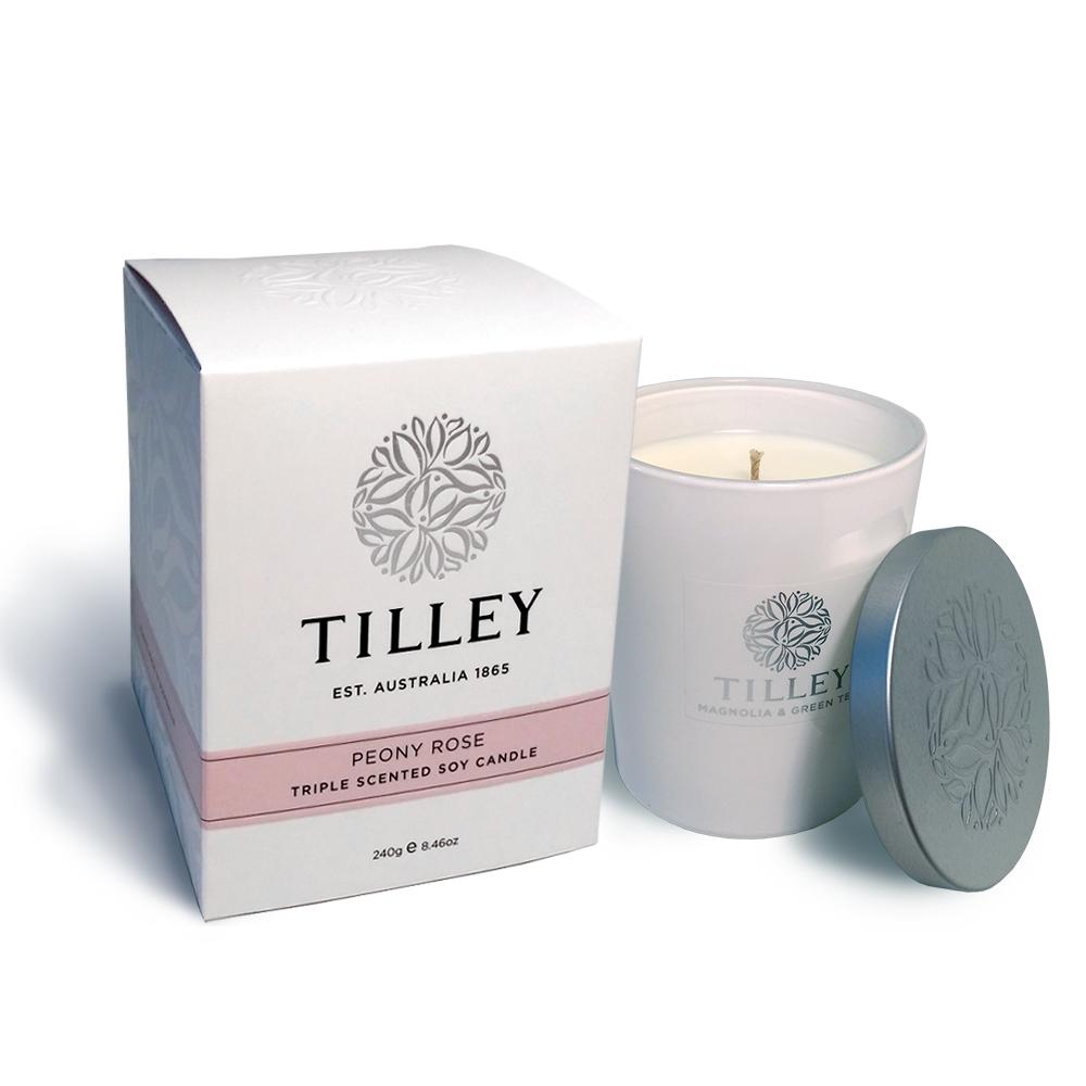Tilley百年特莉 牡丹玫瑰香氛大豆蠟燭240g