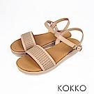 KOKKO - 盛情夏威夷平底寬版軟底涼鞋-貝殼米