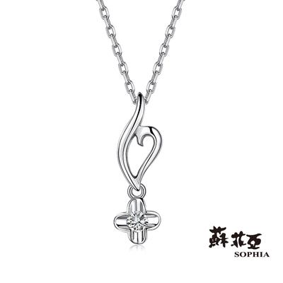 SOPHIA 蘇菲亞珠寶 - 菲希絲 14K白K金 鑽石項墜