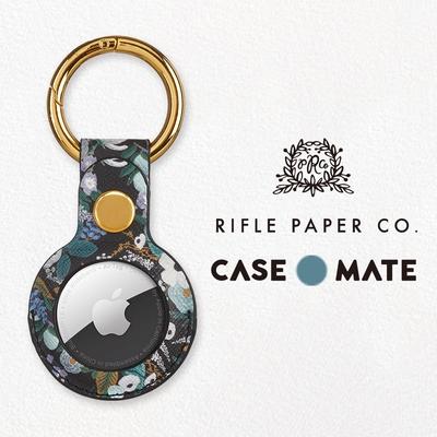 美國 Case●Mate Rifle Paper Co.  AirTag專用吊飾鑰匙圈 - 花園派對/藍
