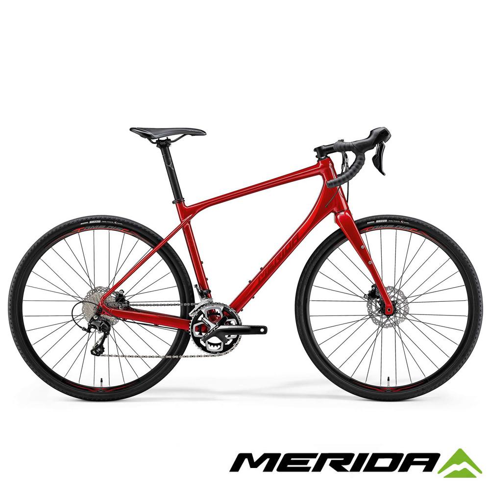 (無卡分期-12期)《MERIDA》公路車界的登山車 Silex 西利 400 紅 2018