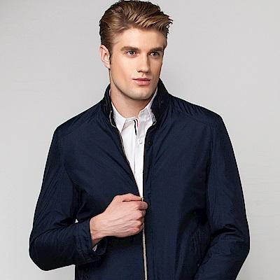 歐洲貴族oillio 休閒薄外套 帥勁穿搭 品味卓越 深藍色