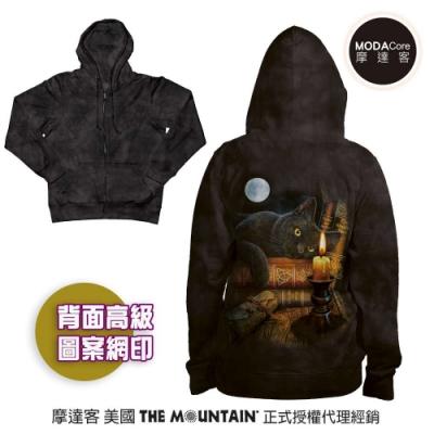 摩達客 預購 美國進口The Mountain 魔法貓時刻 女版長袖連帽外套