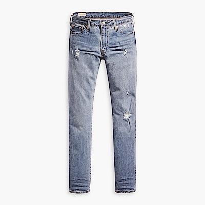 Levis 男款 511 低腰修身窄管牛仔褲 重磅 微磨損破壞 彈性布料