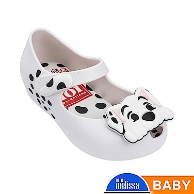 Melissa 101忠狗造型魚口娃娃鞋-寶寶款-白