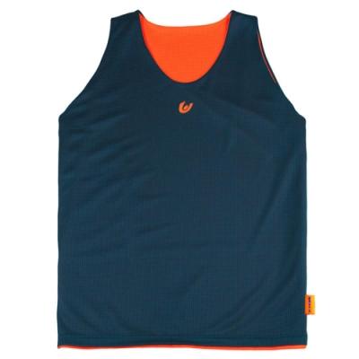 【V-TEAM】雙面穿吸排籃球背心-藍灰